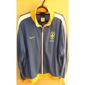 1d0e324768 Jaqueta Seleção Brasileira Nike N98 - Azul - Tamanho Gg