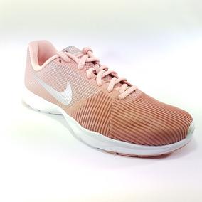Tenis Nike Flex Bijoux 881863 Mujer Rosa Negro Entrenar