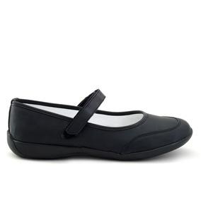 Zapato Escolar Tropicana Para Niña 75001 Negro [tro593]