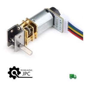 Micro Motor Reductor Engranes Metálicos Encoder Eje Recto