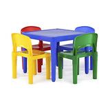 Tot Tutors Kids - Mesa De Plástico Para Niños Y 4 Sillas,
