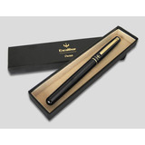 Pluma Excalibur Pentel Negro/oro Punto Medio