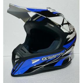 Casco Cross/enduro Cx Racing Blue Rider One