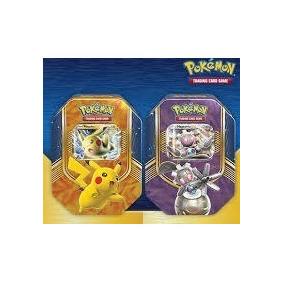 2 Latas Pokémon Cards - Pikachu E Magerna Frete Grátis S.j.