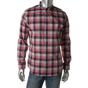 36b0e7b3fb7 Bar Iii Camisa Social Casual Xadrez Vermelha Slim Fit. R  75
