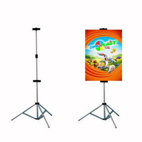Porta Banner 2,20m C/ Garras Pedestal Tripé Suporte Pag2220
