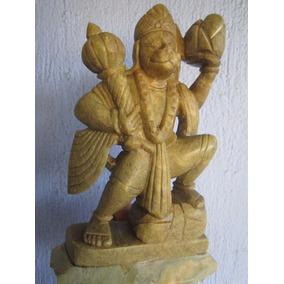 Escultura De Rey Mono En Jade Vitage Antiguo Buda Dios Indu