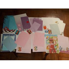 Papel Carta - Coleção Com 102 Papéis Carta Mais 7 Envelopes.