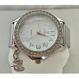 a5d66fa4ece71 Relógio Analógico Prateado De Pulso Importado Feminino Lindo