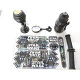 Kit Star Wars Adesivo Buzina Squeeze Espelhinho Bike 16/20*