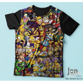 Camisa Camiseta Simpsons Homer Bart Marge Lisa Meg 2 4a3d6608632