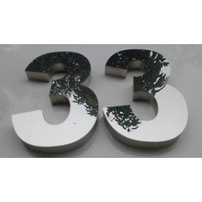 2f5fb3034 Números E Letras Caixa 35cm Aço Inox Brilhante Corte A Laser