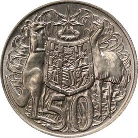 Moeda De Prata 800 - 50¢ Australianos De 1966