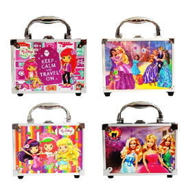 Maletas Maquiagem Kit Infantil Barbie Princesa Moranguinho