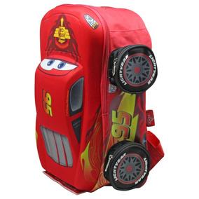 Mochila Cars Original 3d Escolar Para Niño Kinder Jardin Ruz