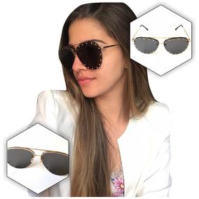 9c8b2eaa39215 Óculos De Sol Feminino Detalhes Estiloso Grande Uv400 Barato