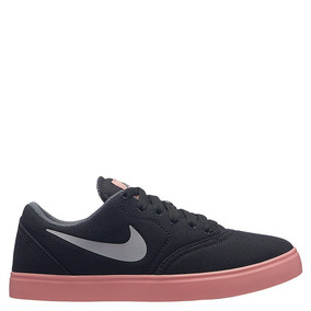 best service 4d75d 9de5a Zapatillas Nike Sb Check Prm Gris Suela Rosa Original Nuevas