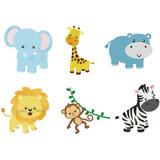 Matriz Para Bordado Animais Safari - 06 Desenhos