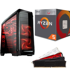 Pc Cpu Gamer Amd Ryzen 5 2400g + 8gb Ddr4 + A320m + Ssd 240g