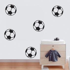 Adesivo Parede Quarto Infantil Esporte Futebol Kit Bolas 56be0c0ccea93