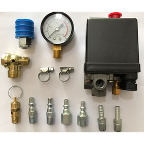 Kit Pressostato Compressor Valvula Engate Conexoes Tudo