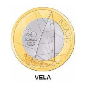 Moeda Olimpíadas Rio 2016 - Vela
