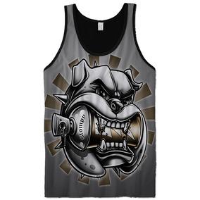 66e0d9d78968a Camiseta Regata Cavada Masculina Tatuagem Caveiras Top 20