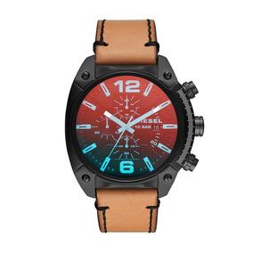Diesel - Reloj Dz4482 Overflow Black Ip And Brown Leather Pa
