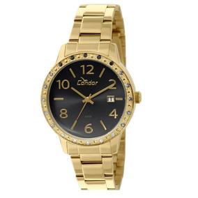 15d5c424644 Relogio Condor Feminino Dourado Com O Fundo Preto - Relógios De ...