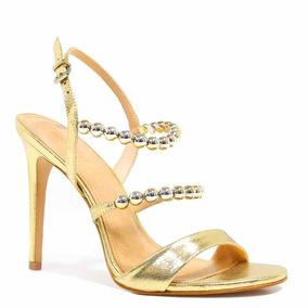Sandália Zariff Shoes Salto Metalizada Dourado | Zariff