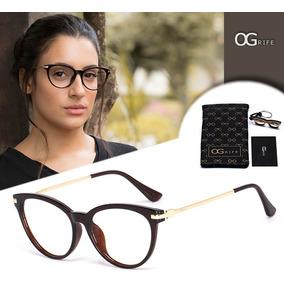 Armacao Oculos Feminino Grau Gatinha - Óculos Armações no Mercado ... ee913849eb