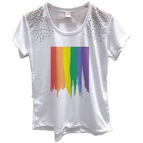 Camiseta Arco Iris - Calçados, Roupas e Bolsas no Mercado Livre Brasil 88b27f8b2a