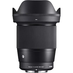 Lente Sigma 16mm F/1.4 Dc Dn Para Sony E A6000 A6500 A6300