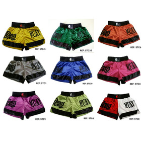 Kit Com 4 Shorts Muay Thai Modelagem Tailandesa Calcao Uniss