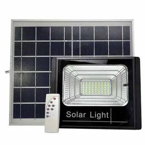 Refletor Led 60w Energia Solar Com Controle E Placa Completo