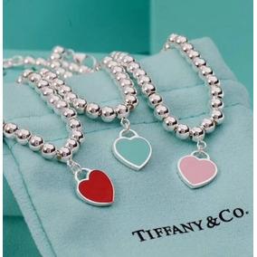 Pulseira Coração Tiffany - Joias e Bijuterias no Mercado Livre Brasil 04e69c3a37