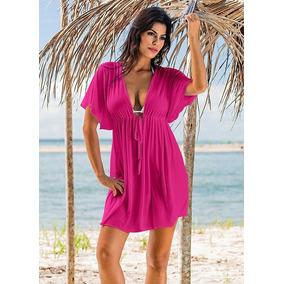 d0d4641103 Saida De Praia Branca - Vestidos Rosa chiclete no Mercado Livre Brasil