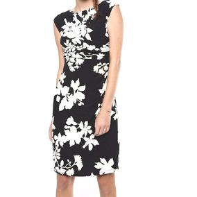 95341779d Chaps Vestido Negro Floral Mujer Original Envio Gratis