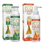 Eco Hair Shampoo + Loción Anticaida Crecimiento Cabello X 2u