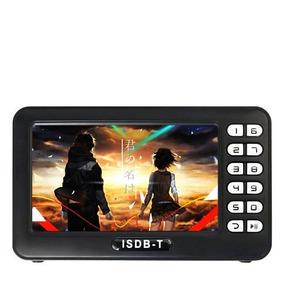 Mini Tv Digital Portatil Recarregavel Com Radio Micro Sd Usb