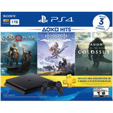 Consola Ps4 Slim De 1tb +3 Juegos +plus 3 Meses