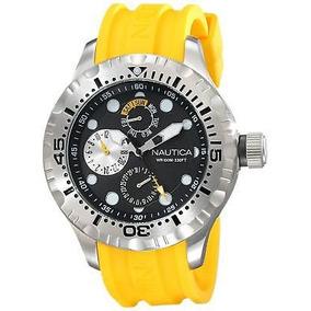 288e3e66d7e4 Reloj Amarillo Hombre Hombres Nautica Relojes Joyas Pulsera ...