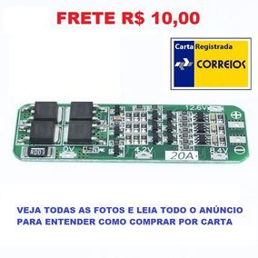 Placa Proteção Carga Bateria Lítio 18650 3s 20a Bms Frete 10