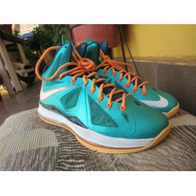 Tenis Nike Lebron X Miami Dolphins Originales + Envio Dhl Gr