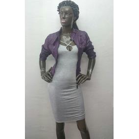 Vestido Gris De Dama Jaspeado