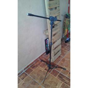 Kit Pedestal Microfone + Estante Partitura   Pr Restauração