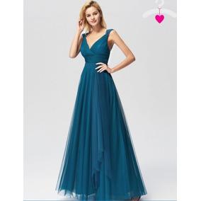 71a2d6faea ... Escote En V Color Azul Petróleo. 2 vendidos - Nuevo León · Vestido Largo  De Fiesta Sin Mangas