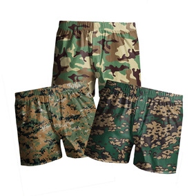 Kit C  3 Samba Canção Estampada Masculina Camuflado Militar ed56893004473
