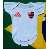 Body Flamengo Jogo Com Nome Do Bebe-estica