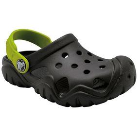 Chanclas Swiftwater Clog Kids Negro-verde Oi